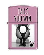 Zippo Playboy Tails You Win Pocket Lighter, Pink Matte