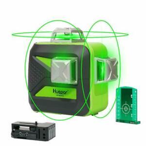 Kreuzlinienlaser Huepar 603CG  3 x 360° grün Kreuzlaser selbstnivellierend