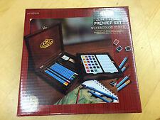 Royal Langnickel Artist Water Colour Pencil Premier Wooden Box Set RSET-WPEN1600