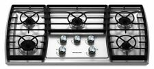 "KitchenAid 36"" Architect Series II Gas Cooktop w/5 Sealed Burners - KGCK366VSS02"