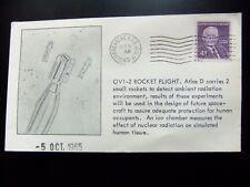 Enveloppe conquête spatiale américaine 5 10 1965, Vandenberg,OV1-2 Rocket Flight