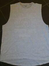 mens longline vest xl (beach) sleeveless holiday wear  grey marl