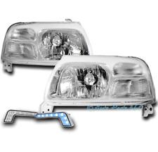 FOR 99-03 SUZUKI GRAND VITARA CRYSTAL CHROME HEADLIGHT LAMP +BLUE DRL LED SIGNAL