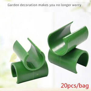 20Pcs/set Plant support Fixed Cross Clip Plant Grafting Stakes Connector C*wf