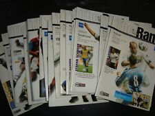 Full set of Derby County home 1999-2000 programmes, 22 in all