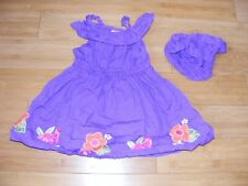 Gymboree Purple DRESS Flower Embroidery FLOWERS Toddler Girl 18-24M DIAPER COVER
