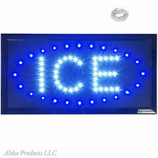 ICE Cubes Cooler Bags Cold Box Blocks For Sale LED Open Business Store Sign neon