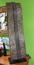 Elegante Bodenlampe Bambuslampe Bambus Textil Asien Afrika natur 120cm