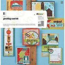 Basic Grey Wander Greeting card kit, makes 8 cards .  Travel, summer, road trip