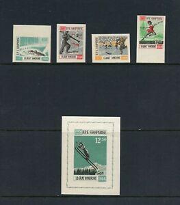 C114  Albania 1963   Winter Olympics  IMPERF  set & sheet      MNH