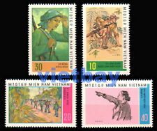 Vietnam NLF: Vietcong War Sketch (Painting) Complete Set Michel 15-18 MNH NGAI