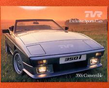 ➽ TVR 350i | 280i | 390 SE Convertible | englisch | prospekt brochure Tasmin!