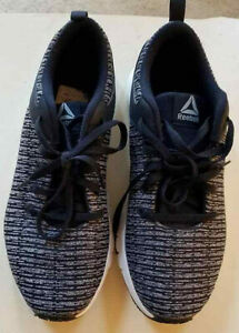 Reebok Women's Print Lux Grey Black Running Shoes Size 8