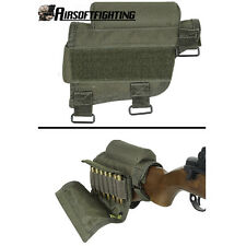 Rifle Ammo Holder Butt Cheek Piece Rest Pad Buttstock Hunting Shooting for .308