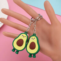 Fruit Soft Rubber Avocado Jewelry Key Ring Key Chain Fashion Accessories