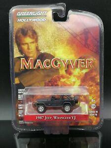 1:64 Greenlight Macgyver  1987 Jeep Wrangler YJ Diecast Car Model Toy