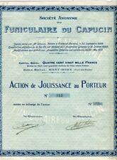 Dépt 63 - Le Mont Dore - Très Rare Action du Funiculaire du Capucin - 30/05/1901
