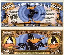 Daffy Duck - Looney Tunes Character Million Dollar Novelty Money