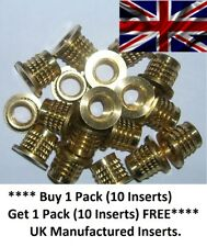 M8 Threaded Solid Brass Press-in Inserts, (Buy 10 Inserts Get 10 Inserts FREE)
