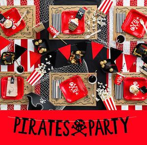 Piraten Geburtstag Party Deko Set Piratenparty Kindergeburtstag 48-teilig Pirat