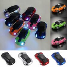 Car Shape Wireless Cordless Optical Mouse Mice + USB Receiver for Laptop GOOD