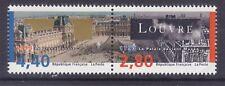 France 2397a MNH 1993 Louvre Museum - Bicentennial Joint Pair VF