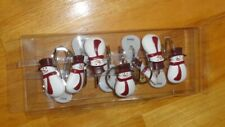 Snowman Shower Curtain Hooks Set of 12 Resin New in Box Winter Christmas