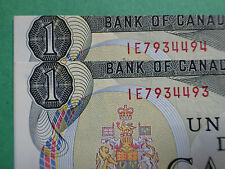 Cutting errors : Cut out of register,  Very rare: 2 consecutives, 1973,1 Dollar,