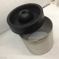 """CASTING FLASK burnout stainless STEEL 3 x 2 1/2"""" LOST WAX WITH RUBBER SPRUE BASE"""