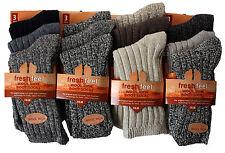 NEW LADIES 6pairs CHUNKY THERMAL WOOL WINTER WARM SOCKS WOMENS HIKE BOOT SOCKS