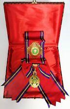 Cambodia Royal Order of Sahametrei Commander Grand Cross Sash White Stone Set