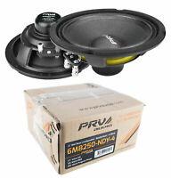 "2x PRV Audio 6MB250-NDY-4 6"" Neo Mid Bass Range Loud Speaker 4 Ohm 500 Watts"