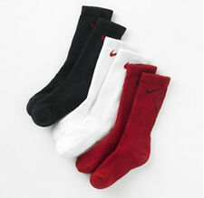 Nike SX4715-960 Boys 3/pk Crew Performance Socks Red White Black S 3~5Y / M 5~7Y