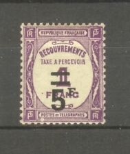 "FRANCE STAMP TIMBRE TAXE N° 65 "" 5F SUR 1F LILAS "" NEUF xx SUP"