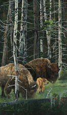 Judy Larson THE SURVIVORS, Native American, Bison, art print #999/1000