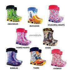 KIDS BOYS & GIRLS WELLINGTON BOOTS /WELLIES/ RAINY BOOTS UK size 7-11 /EUR 24-29