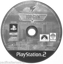 Jeu seul TOP GUN COMBAT ZONES playstation 2 PS2 en loose francais avions guerre