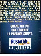 PUBLICITE ADVERTISING   1999   NOSTALGIE radio    LE PRENOM SUFFIT