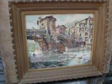 pont sur la Bevena , aquarelle signée Georges Chappuis