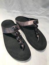 Fitflop Rola Metallic Bronze Leather Sandal Ladies Size 9