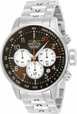 New Mens Invicta 23081 S1 Rally Chronograph Brown Dial Steel Bracelet Watch