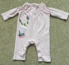 DISNEY BABY GIRLS FLORAL MINNIE MOUSE PLAYSUIT NEWBORN  EX COND