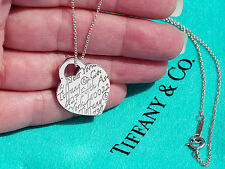 Tiffany & Co NOTES Fifth Avenue Heart Tag Charm Pendant Necklace