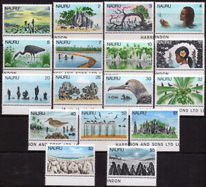 Nauru 1978 QEII set of mint stamps value to $5 MNH