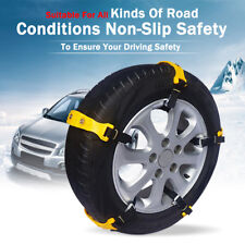10x Car Snow Tyre Chains Belt Beef Tendon Vehicles Wheel Anti-skid TPU Chain UK
