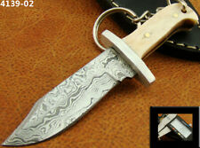 "4.1"" ALISTAR HANDMADE DAMASCUS STEEL KEY RING HUNTING BOWIE KNIFE (4139-2"