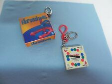 Hasbro 1998 Twister & 2006 Basic Fun Inc. Horseshoes Mini Game Key Chains