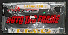 Pittsburgh Pirates Metal License Plate Tag Frame NEW Ripped Plastic Package
