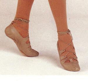 New/pkg Capezio Irish Ghillie Split sole Tan girls sizes Contemporary Lyrical