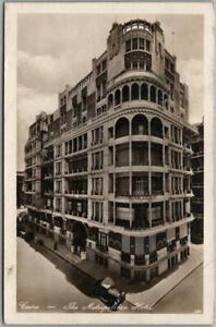 Vintage 1930s CAIRO, Egypt Photo RPPC Postcard METROPOLITAN HOTEL Street View